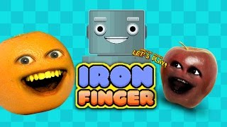Annoying Orange vs Midget Apple - IRON FINGER!