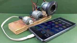 Mobile Charging self running machine generator using DC Motors.