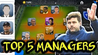Top 5 Managers in PES 2019 Mobile