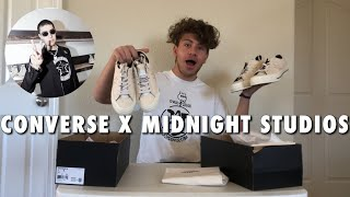 MIDNIGHT STUDIOS x CONVERSE COLLABORATION ONE STAR REVIEW AND ON FEET!!! I GOT TWO PAIRS!