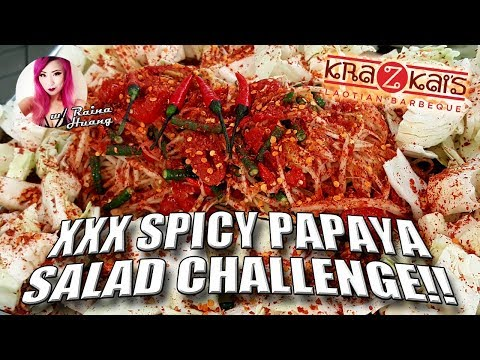 Xxx Mp4 XXX SPICY PAPAYA SALAD CHALLENGE W Raina Huang │Kra Z Kai 39 S Laotian Barbeque 3gp Sex