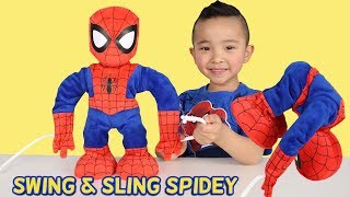 Swing And Sling Spidey Marvel Spider-Man Toys Unboxing Fun With Ckn Toys