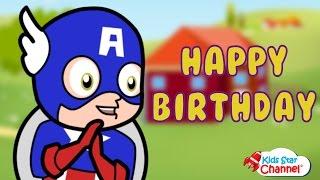 Captain America Civil War Happy Birthday Song For Children   Kids Songs Videos   Kids Star Channel