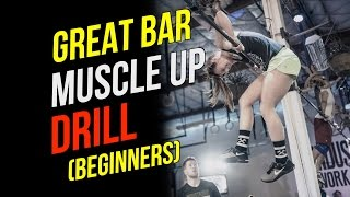 Bar Muscle Up Drills (Jumping BMU For Beginners)