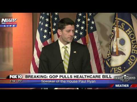 WATCH Paul Ryan Speaks After Healthcare Bill Pulled By President Trump FNN
