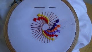 Hand Embroidery: ColorWheel Stitch