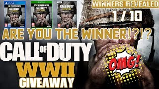 ARE YOU THE WINNER FOR CALL OF DUTY WWII?? | 1st of 10 Winners Revealed