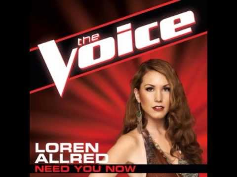 "Loren Allred: ""Need You Now"" - The Voice (Studio Version)"