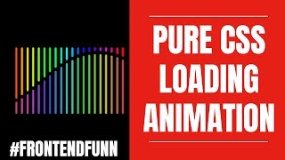 #frontendfunn - Pure CSS Wave Loader Animation Tutorial