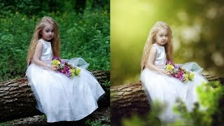 Photoshop CC Tutorial - Fantasy Look Photo Effect Editing | Change Background