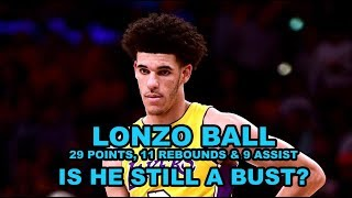 Time Out : Lonzo Ball Still a Bust?
