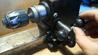 HOMEMADE LATHE  (from old drill press )