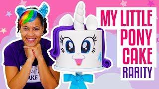 How To Make A FABULOUS My Little Pony RARITY UNICORN Funfetti CAKE   Yolanda Gampp   How To Cake It