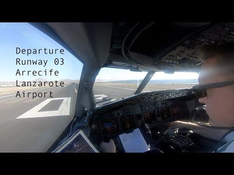 Departure runway 03 Arrecife Lanzarote airport ACE GCRR .