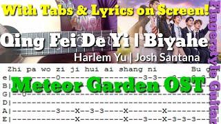 Qing Fei De Yi | Biyahe - Meteor Garden OST Fingerstyle Guitar Cover W/ Tabs on Screen | Abz Collado