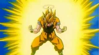 Goku Turns Into A Super Saiyan 3 For The First Time [HD]