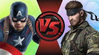 CAPTAIN AMERICA vs NAKED SNAKE! (Marvel vs Metal Gear) Cartoon Fight Club Episode 116
