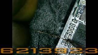 شرح طريقة لحام النقاط لتعويض المسارات المقطوعة داخل بوردة الجوال