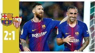 FC Barcelona - FC Sevilla 2:1 / Messi zum 600. Mal im Barca-Dress - Alcacer mit Doppelpack