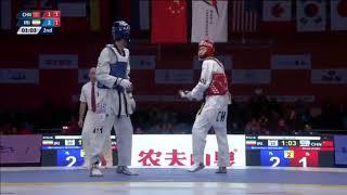 Wuxi 2018 World Taekwondo Grand Slam -68kg SF Mirhashem HOSSEINI(IRI) vs Shuai ZHAO(CHN)