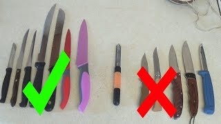 Good and Bad Knives according to UK Government