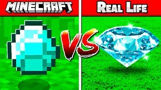 REAL VS FAKE MINECRAFT CHALLENGE!