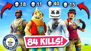 *WORLD RECORD* 84 KILLS BY 1 SQUAD! - Fortnite Funny Fails and WTF Moments! #477