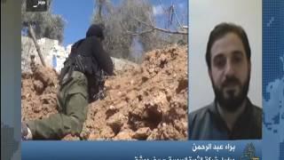 لفضائية حلب اليوم حول أخر تطورات العاصمة دمشق وريفها والقلمون براء عبد الرحمن