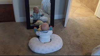 Baby Laughing in Mirror