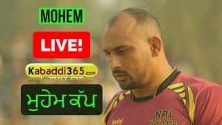 Mohem (Nakodar) Punjab Kabaddi Academy Association Cup (Live) 14 Jan 2017
