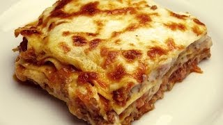Easy Lasagna Recipe with Bechamel Sauce