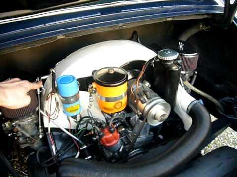 Porsche 356 912 engine running on Solex PII 40