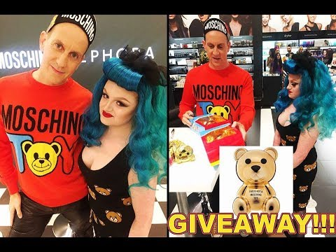 Meeting Jeremy Scott! Moschino X Sephora GIVEAWAY