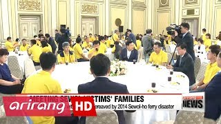 President Moon apologizes to families of Sewol-ho ferry disaster victims on behalf of gov