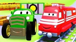 Troy el Tren y el Tractor en Auto City   Dibujos animados para niños