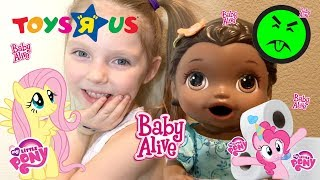 BABY ALIVE TRAINS for LIFE SUCCESS as a BIG GIRL! The Lilly and Mommy Show. TOYTASTIC