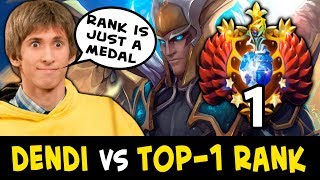 Dendi vs TOP-1 RANK — rank is just a number