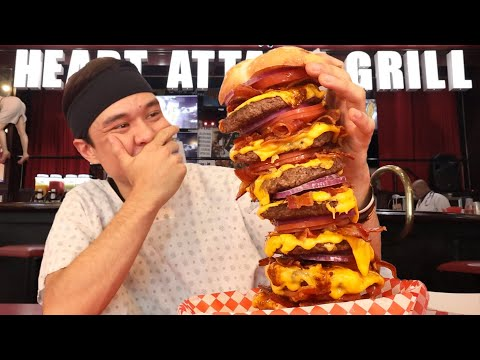 I Ate a 20 000cal Burger in Record Time Octuple Bypass Challenge