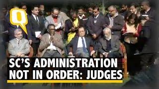 Supreme Court Judges Chelameswar, Gogoi, Joseph and Lokur Target CJI Misra | The Quint