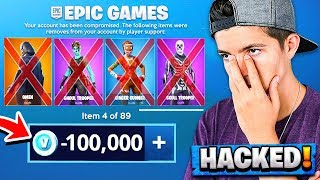 Epic Games Hacked My Account... *LOST HALF MY SKINS*
