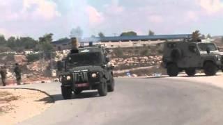 مواجهات مع جنود الاحتلال الاسرائيلي في مدينة رام الله