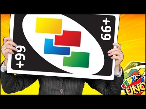 A HUGE UNO CARD TRIED TO EAT ME ALIVE UNO Funny Gameplay