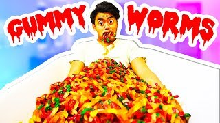 GUMMY WORM BATH CHALLENGE!