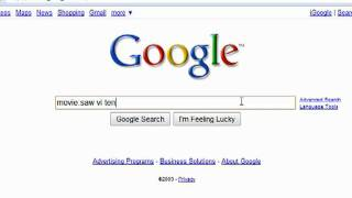 How can find movie times using Google