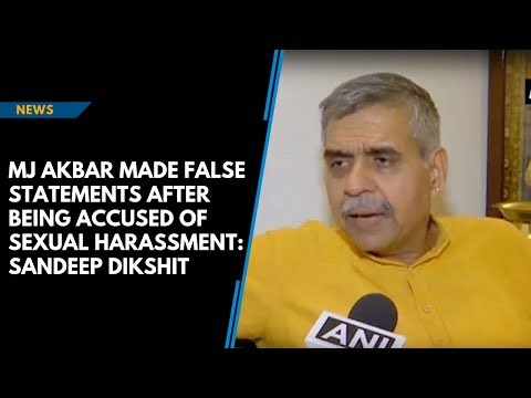 Xxx Mp4 MJ Akbar Made False Statements After Being Accused Of Sexual Harassment Sandeep Dikshit 3gp Sex