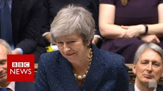 Embattled May faces PMQs ahead of crucial vote - BBC News