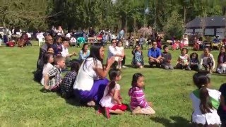 Lakamsairng game Khmer New Year 2016 at Wat Dharmarangsey, Oregon, USA