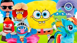 Surprise Egg Animation Spongebob Peppa pig Little Pony Frozen Plushies