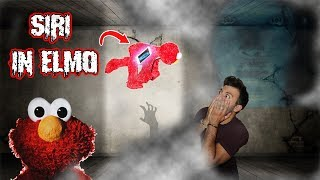 (ELMO FOOT PRINTS?!) DONT PLAY WITH ELMO & SIRI AT 3 AM | DONT PUT SIRI INSIDE ELMO (SHE TRICKED US)