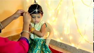 HOW TO DRESS YOUR KID AS RADHA
